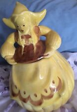 RED WING POTTERY YELLOW DUTCH GIRL COOKIE JAR