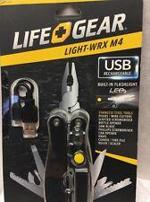 Life+Gear LIGHT-WRX M4 USB Flashlight and Multitool (11-Piece)