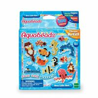 Aquabeads Sea Life Set Nine Different Colours Over 600 Beads Xms Gift Refill NEW