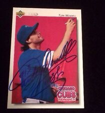 TURK WENDELL 1992 UPPER DECK ROOKIE  Autographed Signed AUTO Baseball Card 85