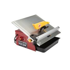 "7"" Portable Wet Cut Tile Saw cuts material up to 12 in. wide and 1 in. thick"