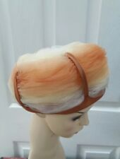 VINTAGE 1960s formal TULLE TURBAN CLOCHE STYLE HAT one size/56 cm¥¥¥¥