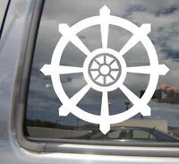 Dharma Wheel Vinyl Decal Sticker Yoga Buddha