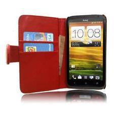 Für HTC One X Tasche Flip Case Schutzhülle Hülle Wallet Book Etui EC rot