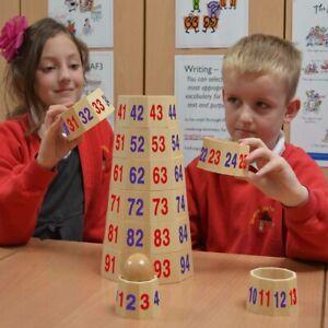 Eduk8 Wooden Number Tower - Kids Children's Maths Mathematics Educational Toys