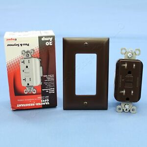 P&S New Brown Tamper Resistant GFCI GFI Receptacle Outlet NEMA 5-20R 20A 2095-TR