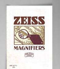 Carl Zeiss Jena Magnifiers Catalog with Prices 1932 Original