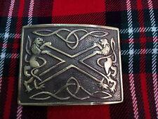 TC Men's Highland Kilt Belt Buckle Saltire Lion Rampant Antique Finish/Buckles
