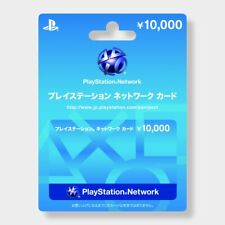 Sony Japan Playstation Network PSN 10000 Yen Card PS4 PS3 Vita PSP