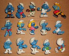 Vintage Peyo Schleich Lot of 45 different Smurfs PVC figure