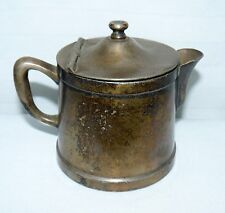 Vintage Grand Silver Co. Wear Brite Hinged Pitcher Small Creamer Nickel Silver