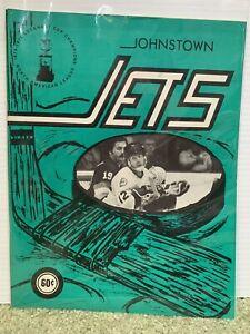 1975 JOHNSTOWN JETS PROGRAM -Slap Shot Players Hanson, Jeff & Steve Carlson EHL