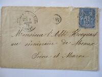Frankreich Allegorie Nr.73 auf Brief 1879