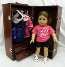 "2013 18"" American Doll with Vintage Wardrobe, Clothes and Accessories Mint"
