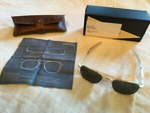New, American Optical Original Pilot Sunglasses, 52 mm Lens, Gold Frames