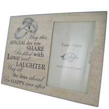 """Photo Frame Wedding May This Special Day Be Filled With Love Wooden 4x6"""" SG1627"""