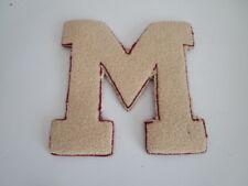 """Chenille Varsity Letter """"M""""  Cream & Burgundy"""