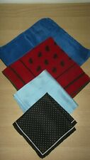 4 x  MIXED COLOUR POCKET SQUARE HANDKERCHIEFS