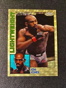 🔥🔥🔥2019 Topps UFC Chrome JON JONES 1/1 SUPERFRACTOR 1984 STYLE INSERT🔥🔥 🔥