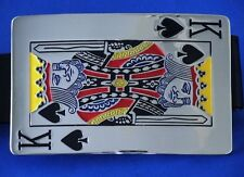 Belt Buckle Metal King Of Spades with Genuine Leather Belt  New Free US Shipping