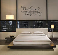 JUST ONE LIFETIME WALL ART BEDROOM VINYL DECAL WORDS LETTERING SAYING QUOTE