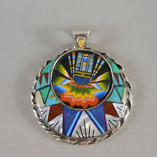 *HOT* MICRO INLAY DIETY WITH HEADRESS STERLING SILVER PENDANT