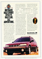2-page drive fast Classic Vintage Advertisement Ad H08 1992 Subaru SVX