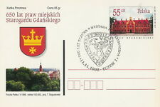Poland postmark TCZEW - 800 years civic rights crest