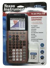 Texas Instruments TI-84 Plus CE Color Graphing Calculator, Rose Gold - Brand New