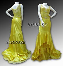 TREMENDOUSLY ATTRACTIVE! BEADED YELLOW FORMAL/EVENING/PROM DRESS 2PC SET; 8 10