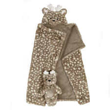 New listing 2-piece Set 30 in. x 36 in. Little Miracles Hooded Blanket & Plush Animal