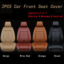 2PCS Cooling Warm Heated & Massage 3 IN 1 Car Seat Cover Cushion For Front Seat