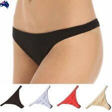 Women's Sexy T-Back G-String Thongs MiNi Cotton Briefs Bikini Knickers Underwear