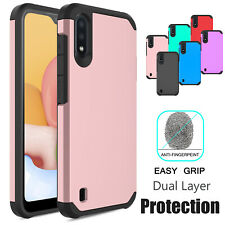 For Samsung Galaxy A01 A11 Armor Case Hard Shockproof Cover /HD Screen Protector