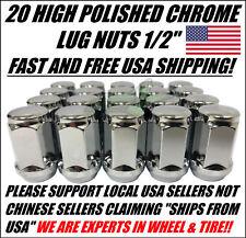 "20 Ford Chrome Lug Nuts OEM Acorn | 1/2""-20 | Closed End 5X4.5, 5X114.3, 5x108"