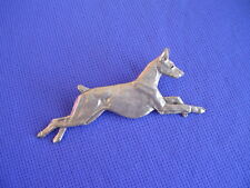 Doberman Pinscher Leaping pin #29H Pewter Dog Jewelry by Cindy A. Conter