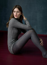 Fiore Daydream Thick Textured Patterned Tights 60 Denier Opaque 3D Melange