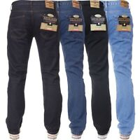 Kruze Denim Mens Work Jeans Basic Heavy duty Straight Leg Regular Fit Pants