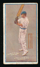 1906 Sniders & Abrahams J Tyldesley Cricketers in Action Milo Cigarette Card +++
