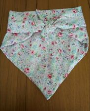 New Dog Neckerchief floral Design Fabric size Small Medium bandana style collar