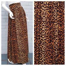 Vintage 1980 1990 Carla Zampatti Leopard Animal Print Boho Festival Maxi Skirt M