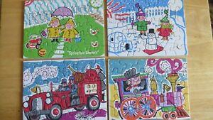 4 Vintage Tuco Puzzles Triple Thick Pieces