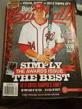 2012 Beckett Baseball Price Guide Magazine Bryce Harper April 2012