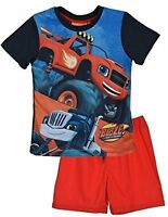 Boys Blaze And The Monster Machines Short Pyjamas Shorty Shortie PJs Age 3-8 Y