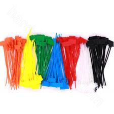 Kabelbinder mit Beschriftungsfeld Nylon Kabelband Breite 2.5 3mm Länge 100-200mm