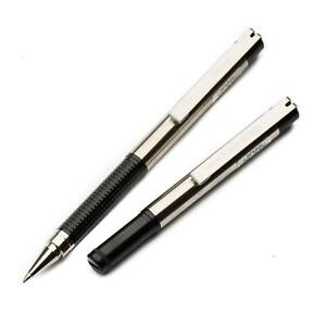 Zebra F-301 Compact Stainless Steel Ballpoint Pen - 0.7mm - Black or Blue Ink
