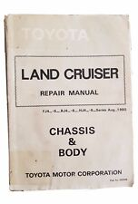 Toyota Land Cruiser Repair Manual Chassis and Body Aug 1980