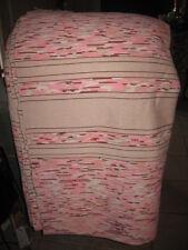 """#M4 vtg handmade blanket throws rag woven catalogne cotton blend 81 by 85"""" new"""