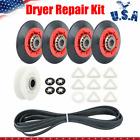4392067 Dryer Repair Kit w/ 4 Rollers Pulley & Belt For Whirlpool Kenmore Maytag photo