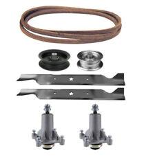 "Sears DLS 3500 46"" Mower Deck Parts Rebuild Kit Spindles Blades Belt Pulleys"